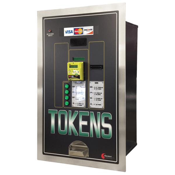 MC535RL-CC Rear Load Credit Card or Cash to Token Machine