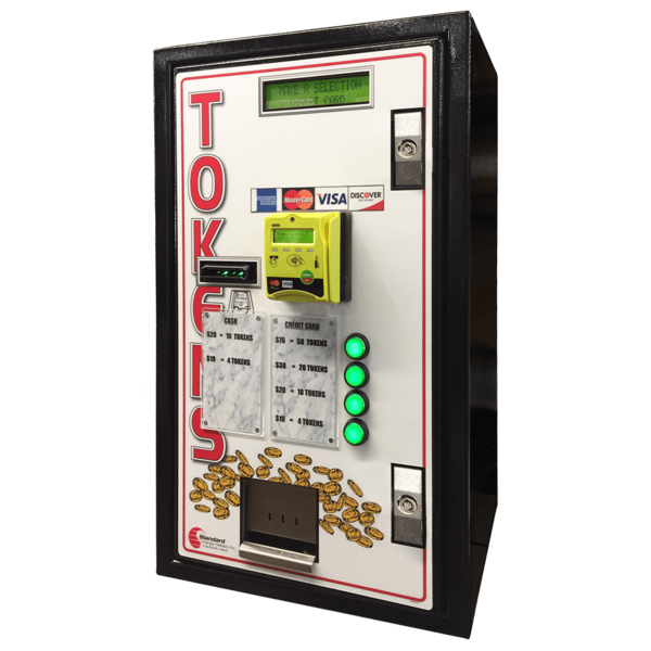 MC-720 CC Front Load Credit Card or Cash to Token Machine