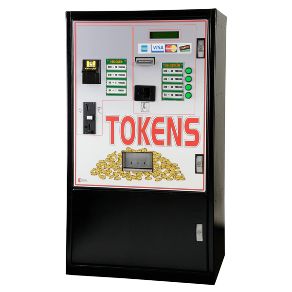 MC920-CC Front Load-Dual Acceptor-Console Style Token Change Machine